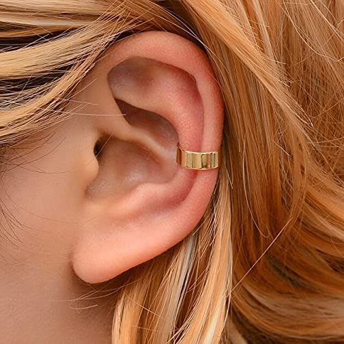 1pcs Fashion Gold Leaf Clip Earring for Women Without Piercing Puck Rock Vintage Crystal Ear Cuff Girls Jewelry Gifts