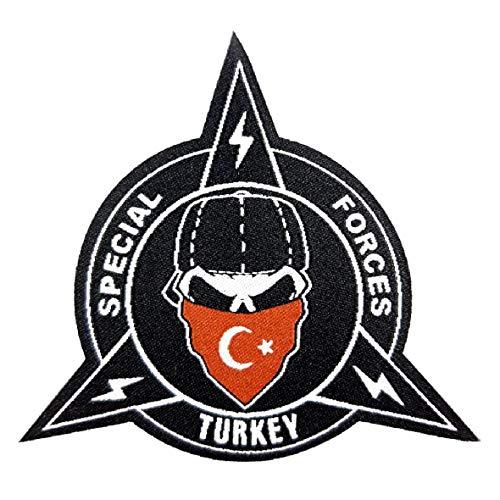 Generisch 1 x Turkije Türkiye Asker Armee Special Forces Turks vlag patch ca. 8 cm opstrijkbare patch met speciale lijm gewoon opstrijken