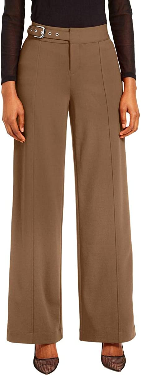 INC International Concepts Women's Side-Belt Wide-Leg Pants