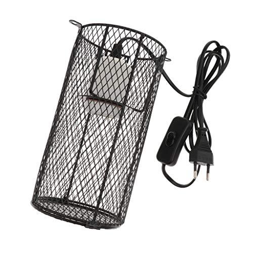 LOVIVER Lampenschutzkorb mit E27 Fassung für Terrarium-Lampen max. 500W
