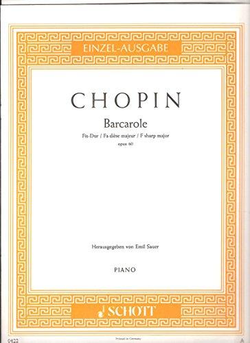 Barcarole Fis-Dur: op. 60. Klavier. (Edition Schott Einzelausgabe)