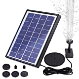 AISITIN Solar Fountain Pump 6.5W Panel with Battery Backup Solar Water Pump Floating Fountain, 6 Nozzles, for Bird Bath, Fish Tank, Pond or Garden Decoration