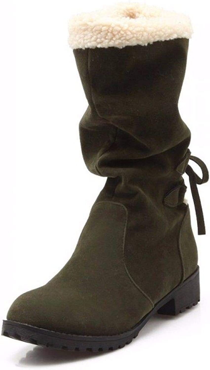 The Winter After Ms. TIE Cotton Boots and Cashmere Thermal Size Student Boots