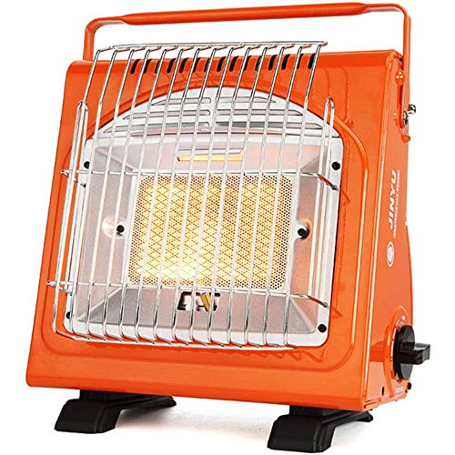 Fikujap Portable Gas Heater Outdoor, 1.7Kw Compact Mobile Caravan Outdoor Fishing Butane, Dual-Purpose Mini Tent Gas Heater for Camping Tent
