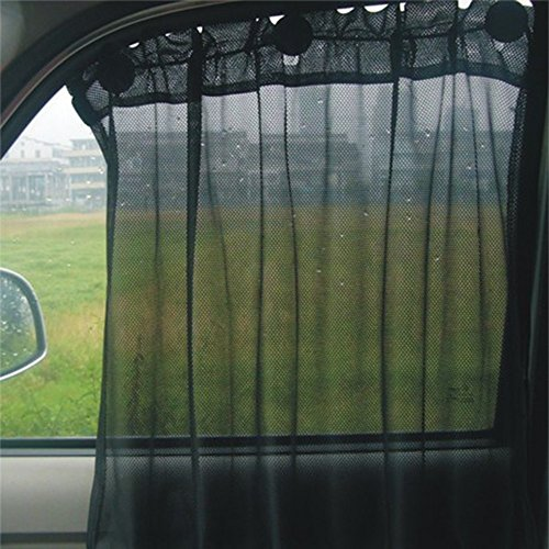 Aumo-mate 2 Pack Car Sun Shade Side Window Curtain Sun Uv Protection Car Curtains Windshield Sun...