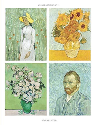 Van Gogh Art Prints Set 1: Fine Art Prints, Home Wall Decor, Impressionist Paintings, Set of 6 Unframed 8x10 Posters, Artist Gift Idea for Office, Kitchen, Living Room, Dorm, Bedroom