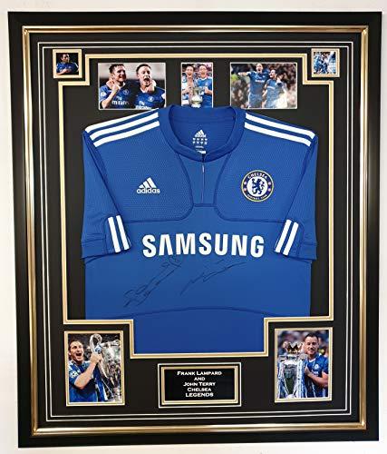 www.signedmemorabiliashop.co.uk Frank Lampard und John Terry von Chelsea signiertes Hemd, offizielles Lizenzprodukt
