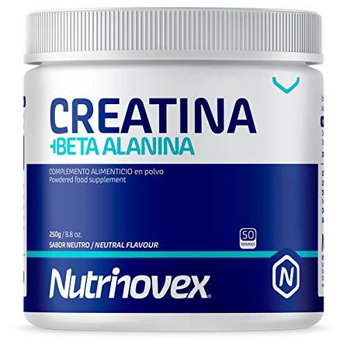 Creatina Monohidratada y Beta Alanina en polvo 250g de Nutrinovex | Aumenta...