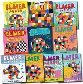 Elmer the Elephant Collection 10 Books Set: Elmer Elmer on Stilts Elmer and Wilbur Elmer in the Snow Elmer And The Wind Elmer and the Lost Teddy Elmer and the Stranger Elmer and Grandpa Eldo Elmer and Rose Elmer Again (ELMER THE ELEPHANT, VOLS 1-10)