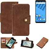 K-S-Trade® Compatible With Vernee M6 Wallet Case Mobile