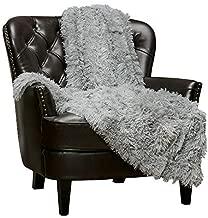Chanasya Shaggy Longfur Faux Fur Throw Blanket - Fuzzy Lightweight Plush Sherpa Fleece Microfiber Blanket - for Couch Bed Chair Photo Props (50x65 Inches) Grey