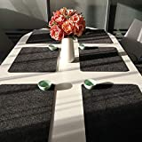 6er Set Platzmatten Untersetzer Teller aus Filz Platzset Tischset Filzuntersetzer Waschbare Tischuntersetzer Platzdeckchen Filzmatte-45cmx30cm - 3