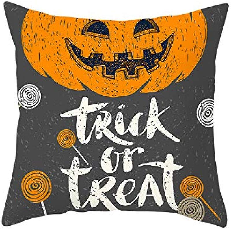 Redacel Halloween Pumpkin Pillowcases Throw Pillow Cover Decorative Sofa Cushion Cover Bed Pillows Cushions P