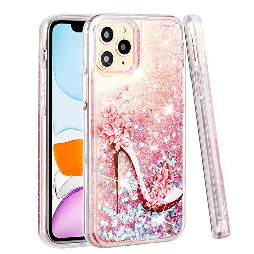 Clysburtuony Bling Running Liquid Glitter Funda para iPhone 11 Sparkle Case para iPhone 11 Pro Max (iPhone 11Pro Max)