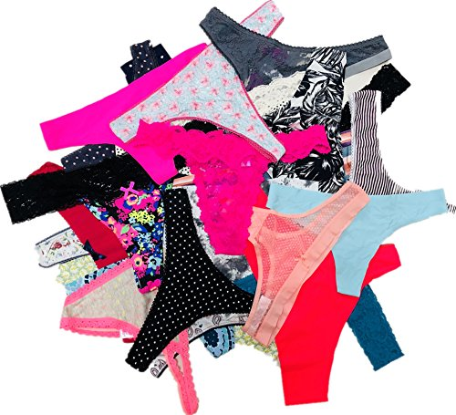 Morvia Variety Panties for Women Pack Sexy Thong Hipster Briefs G-String Tangas Assorted Multi Colored Underwear (28 Pcs, S)