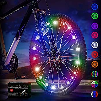 Bike Lights by Activ Life  1 Tire Multicolor  Popular LED Bicycle Gifts for Kids Fun Top Unique Presents 2021 Popular Children Toys Best for Hot Outdoor Family Child Bday Party Regalos de Navidad