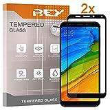 Pack 2X Panzerglas Schutzfolie für XIAOMI REDMI 5 Plus, Schwarz, Bildschirmschutzfolie 9H+, Polycarbonat, Festigkeit, Anti-Kratzen, Anti-Öl, Anti-Bläschen, 3D / 4D / 5D