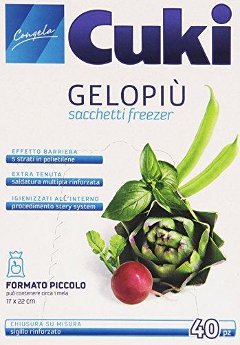 Cuki - Gelopiu' Sacchetti Freezer, 17 x 22 cm - 40 pezzi