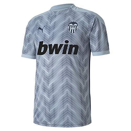 PUMA Valencia CF Temporada 2020/21-Stadium Jersey Peacoat-Heather Camiseta, Unisex, Gris, S