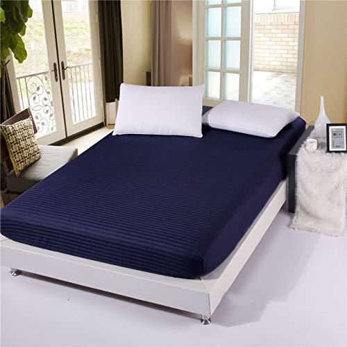 QZXCD hoeslaken Premium Satin Stripe Encryption Fabric Bed Four Corners met elastiek 160 x 200 cm & 200 x 220 cm Overige specificaties 100% katoen 180 x 220 x 26 cm