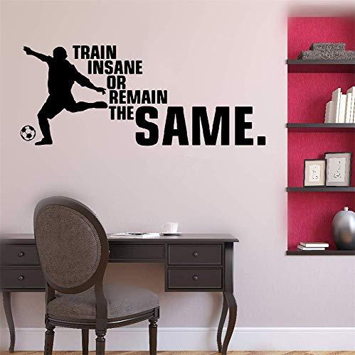 N/ A Vinilo adhesivo de pared para decoración de pared, diseño de tren loco o remanente a lo mismo para la sala de estar, dormitorio, manguera o hogar, idea de regalo de 15,6