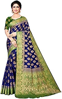 Neerav Exports Kanjivaram Silk With Rich Pallu Traditional Jacquard Saree (Blue)