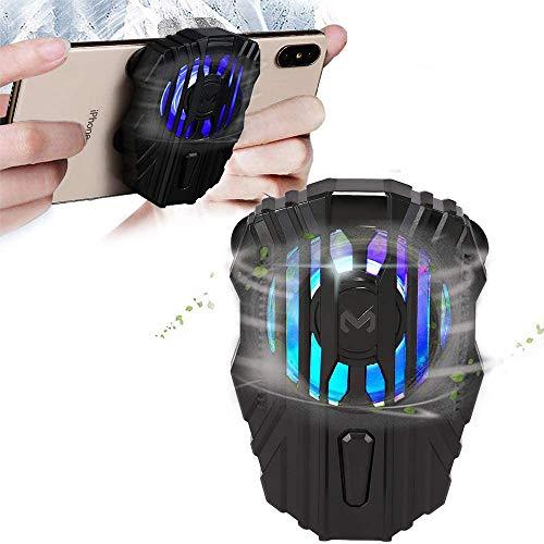 picK-me Enfriador de movil para PUBG, Enfriamiento del Telefono Movil para Jugar Juegos, Mirar Videos, 3 Velocidades, Luz LED, para Universal iPhone / Android Teléfono Inteligente
