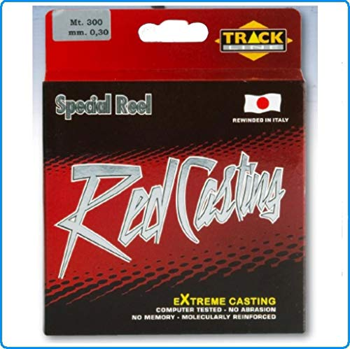 TRACK LINE Lenza Red Casting 0.20mm 300mt lb8.50 Pesca SURFCASTING Bolognese