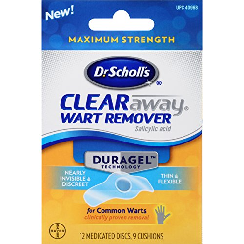 Dr Scholl's Duragel Clearaway Wart Remover,12 Medicated Discs,9 Cushions(pack of 2)Total 24 discs and 18 cushions