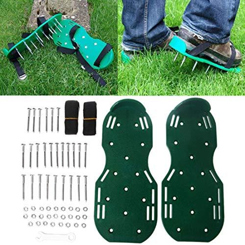 YDYL-LI 1 Pair of Garden Grass Cultivator Scarification Lawn Aerator Shoes Gardening Walking Farmer Yard Garden Tool Grass Shoes