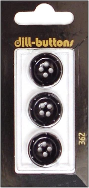 Dill Special High quality new price Buttons 17mm 3pc Hole Black 4