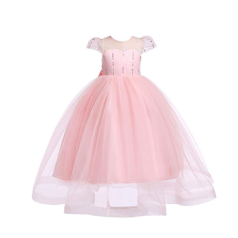 子供ドレス キッズドレス ワンピース 女の子 女児 ガールズ フォーマル リボン飾り 演奏会 発表会 結婚式 入園式