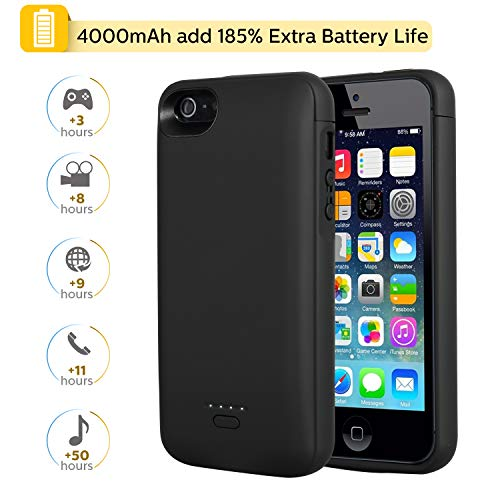 Mbuynow 4000mah Funda Batería Recargable para iPhone 5S Batería Externa para...
