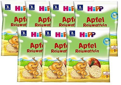 HiPP Apfel Reiswaffeln Bio, ab dem 8. Monat, 7er Pack (7 x 35 g)