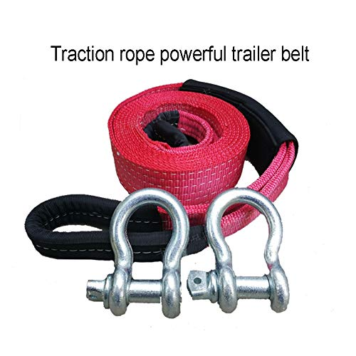Best Buy! Gjjtcd Vehicle Tow Rope-Heavy Recovery Trailer Belt Car Trailer Belts Widened Thickened Tr...