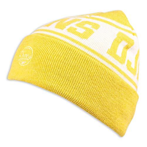 Djinns - Melange Team - Beanie Mütze Strickmütze Wollmütze Winter Hat (Yellow,...