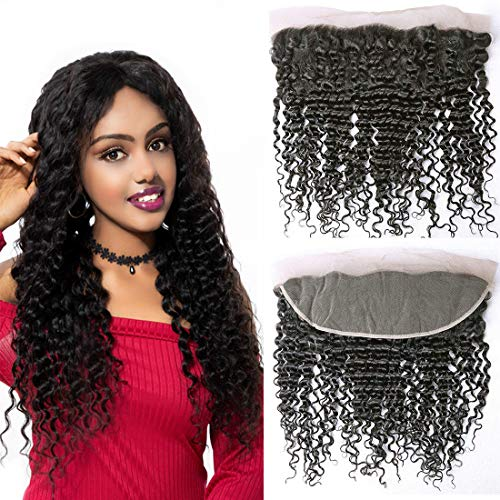 NEW Brazilian Deep Wave 3 bundels of sluiting of frontaal of 360 kanten frontaal 14 inch frontal