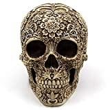 LUCY STORE Flower Decoration Halloween Skulls Spoof Props Resin Crafts Ornaments Gift Gifts 20.5 15.5 14.5cm