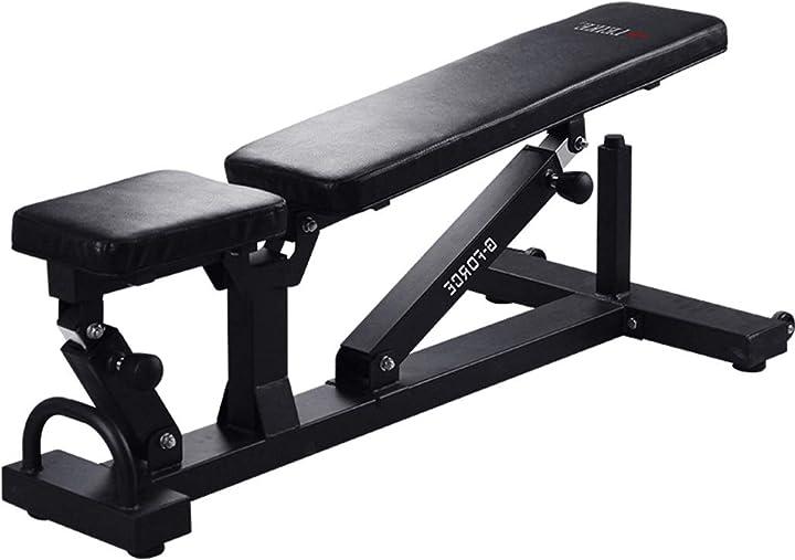 Panca per manubri professionale super resistente panca inclinata tavola addominale tavolo sit-ups 24.5kg B07QW7XGM8