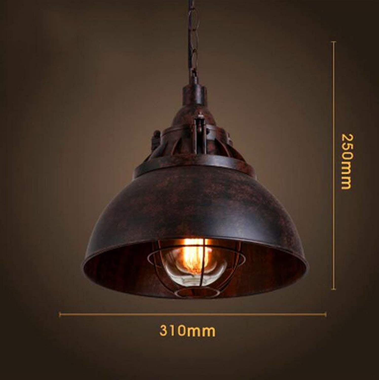 FuweiEncore Retro Kronleuchter, American Retro Industrial Wind Restaurant Cafe Bar Bekleidungsgeschft Single Head Irons Kronleuchter Tasche E27 (Farbe    2) (Farbe    2)