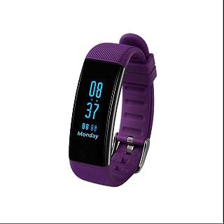 Pulsera Actividad Bluetooth,Pulsera de actividad con Fitness Tracker Monitor de Calorías Monitoreo de frecuencia cardíaca Notificación de mensajes para Huawei,Samsung,iPhone