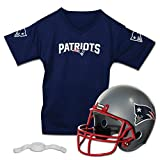 Franklin Sports New England Patriots Kids Football Helmet and Jersey Set - NFL Youth Football Uniform Costume - Helmet, Jersey, Chinstrap - Youth M