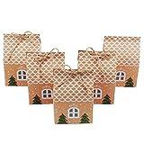 TsunNee Cajas de regalo de la fiesta de Navidad de, Cajas de dulces de papel Kraft de Navidad, Bolsas de regalos de fiesta de Navidad, Cajas de papel de fiesta de Navidad, Paquete de 50