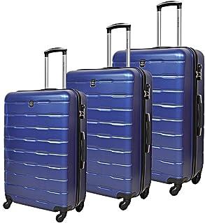 نيو ترافل حقائب سفر بعجلات ، مجموعة من 3 قطع ، ازرق