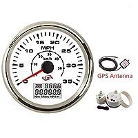 圧力計 防水 車 オート 車両 ボート GPSスピードメーター オドメーター 12V 12V 35MPH 50Kmh マルチバックライト セブンバックライト センサー (Color : B)