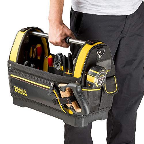 Stanley FatMax Werkzeugtrage, 48x33x22cm, 600 Denier Nylon, wasserdichter Kunststoffboden, ergonomischer Gummigriff, Rahmen stahlverstärkt, verstellbarer Schultergurt, 1-93-951 - 6