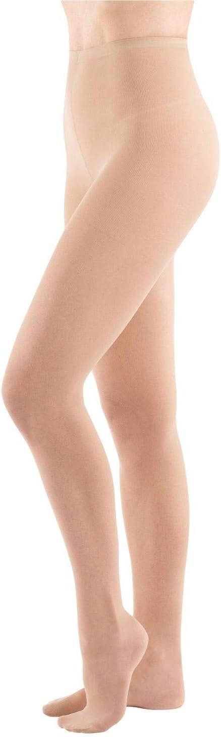 Support Plus Women's No-Run Light Support Pantyhose, Regular to 4X - 3 Pair Pack - Beige - Regular