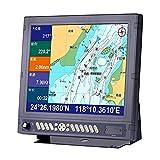 YEZIB - 17 '' Barco de Pesca GPS Localizador de navegador Plotter de la Tabla para el Barco Soporte de navegación C-Map HM-1817 Electrónica Marina Navicom para la Motocicleta de yate de Barco.