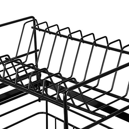 minifinker Rejilla para vajilla, fácil de Instalar y Usar Rejilla para Platos de Material de Metal + PP almacenar Platos y Otros Suministros de Cocina y secar la vajilla