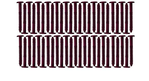 Window Shutters Panel Peg Lok Pin Screws Spikes 3 inch 60 Pack (Burgundy) Exterior Vinyl Shutter Hardware Strongest Made in USA